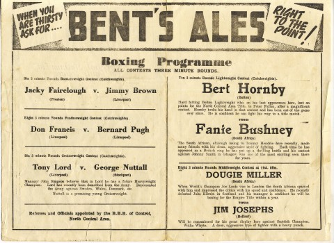 Fanie Bushney vs Bert Hornby - African Ring
