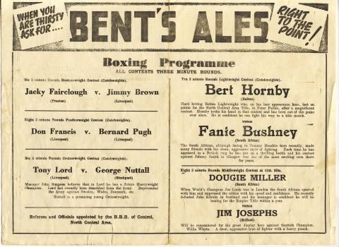 Fanie Bushney vs Bert Hornby - African Ring