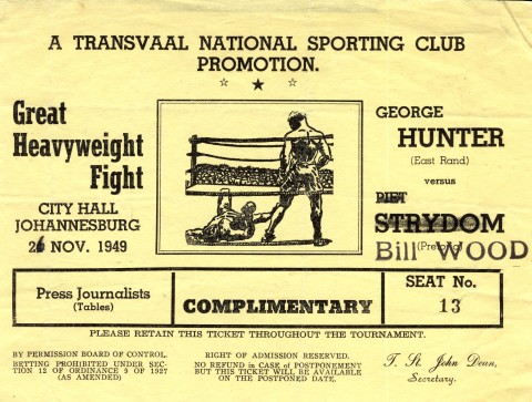 George Hunter vs Bill Wood - African Ring