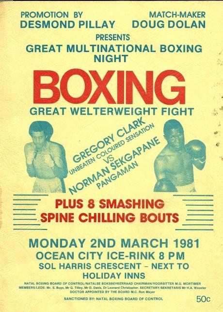 Gregory Clark vs Norman Sekepane 1981