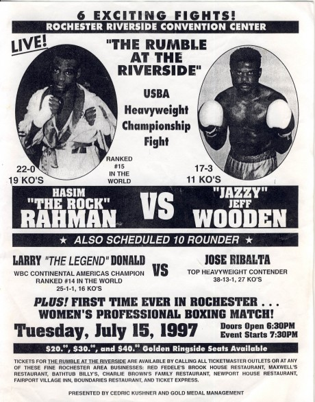 Hasim Rahman v Jeff Wooden flyer1997