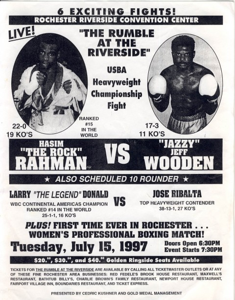 Hasim Hahman vs Jeff Wooden - African Ring