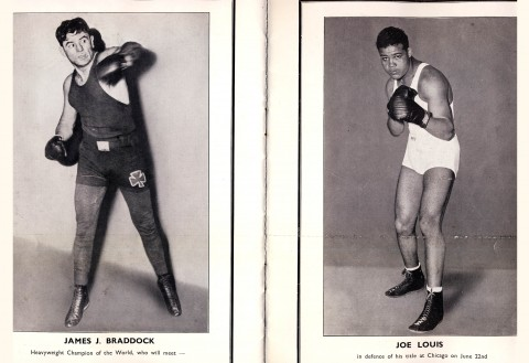 James J Braddock vs Joe Louis - African Ring