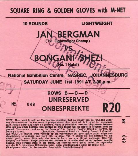 Jan Bregman vs Bongani Shezi - African Ring