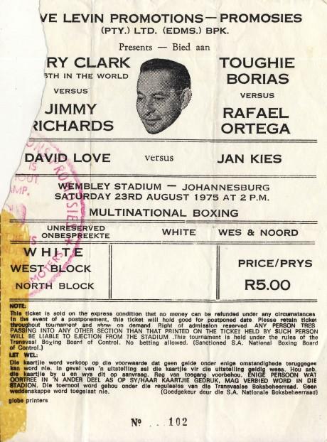 Jan Kies vs David Love, Jimmy Richards vs Rafael Ortega, Gregory Clark vs Toughie Borias
