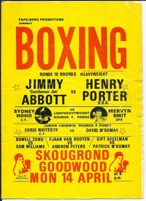 Jimmy Abbatt vs Henry Porter - African Ring