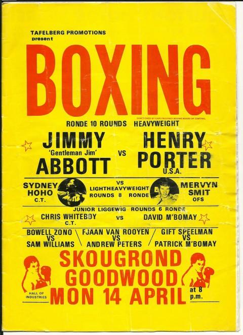 Jimmy Abbatt vs Henry Porter - African Ring