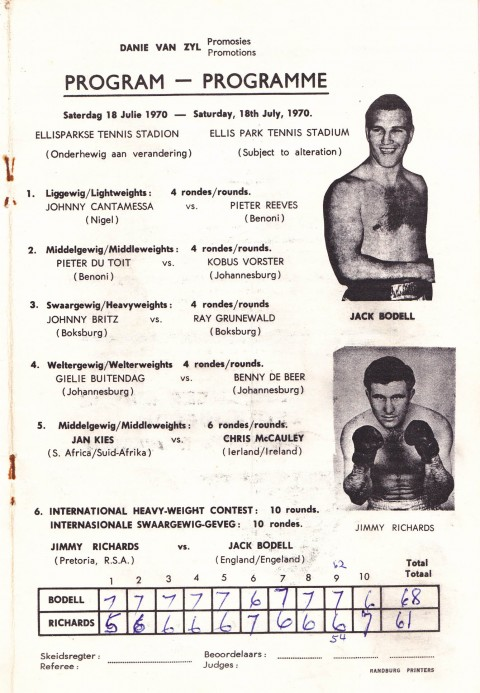 Jimmy Richards vs Jack Bodell - African Ring
