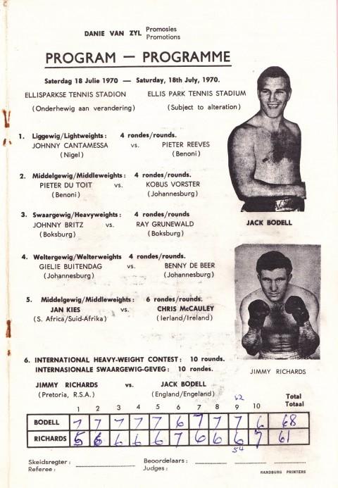 Jimmy Richards vs Jack Bodell - African Ring