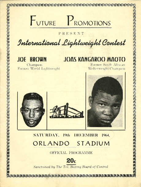 Joe Brown vs Joas 'Kangaroo' Maoto