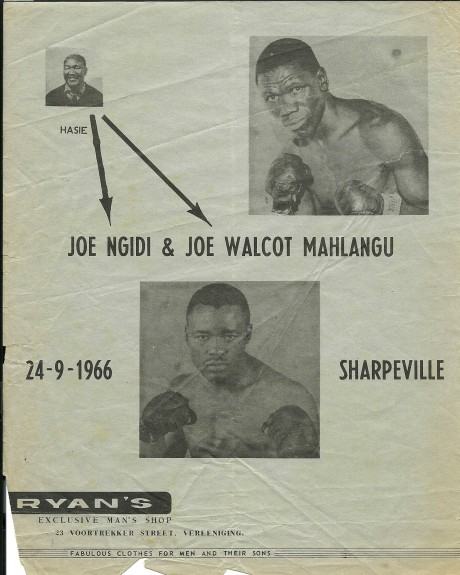 Joe Ngidi vs Joe 'Walcot' Mahlangu 1966