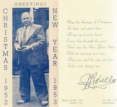Joe Rosella Christmas & New Year card