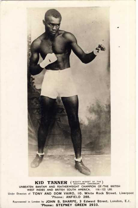 Kid Tanner 1931-1950 bouts 152 post card