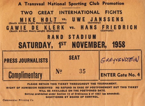 Mike Holt vs Uwe Janssens - African Ring