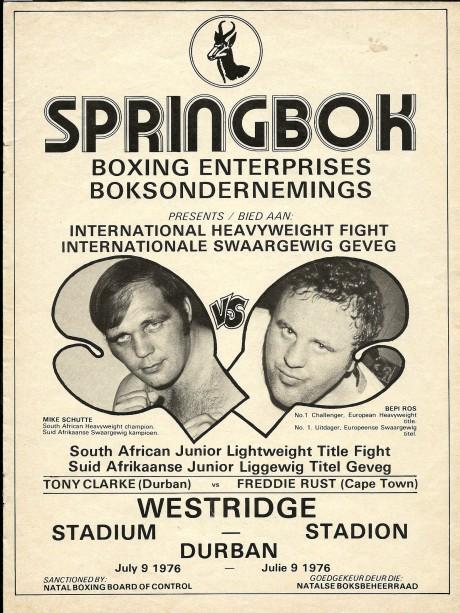 Mike Schutte vs Bepi Ros 1976