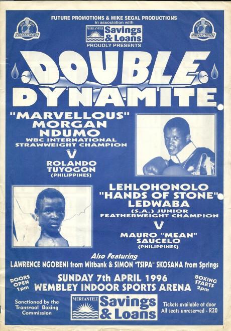 Morgan Ndumo vs Lehlohonolo Ledwaba 1996