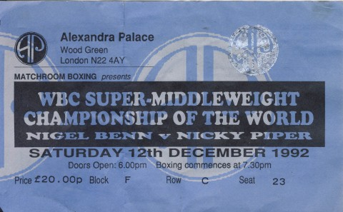 Nigel Benn vs Nicky Parker - African Ring