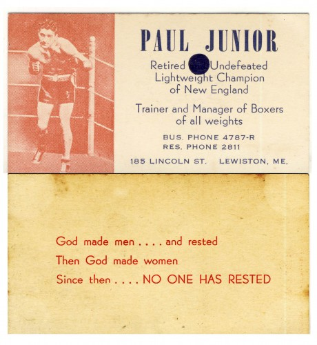 Paul Junior business card