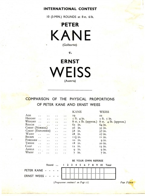 Pater Kane vs Ernest Weiss - African Ring