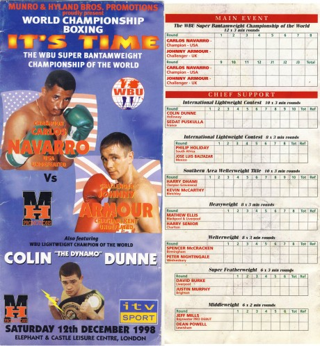 Phillip Holiday vs Jose Luis Baltazar 1998
