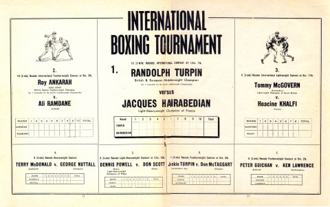 Randolph Turpin vs Jacques Hairabedi - African Ring