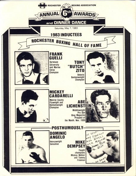 Rochester Boxing Association 1983 Inductees