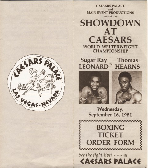 Sugar Ray Leonard vs Thomas Hearns - African Ring