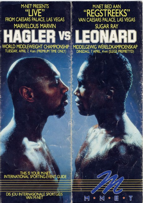 Sugar ray Leonard vs Marvin Hagler