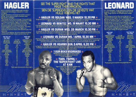 Sugar ray Leonard vs Marvin Hagler Mnet-folder