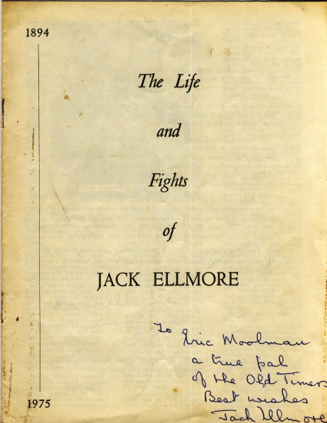The life and fights of Jack Ellmore signed