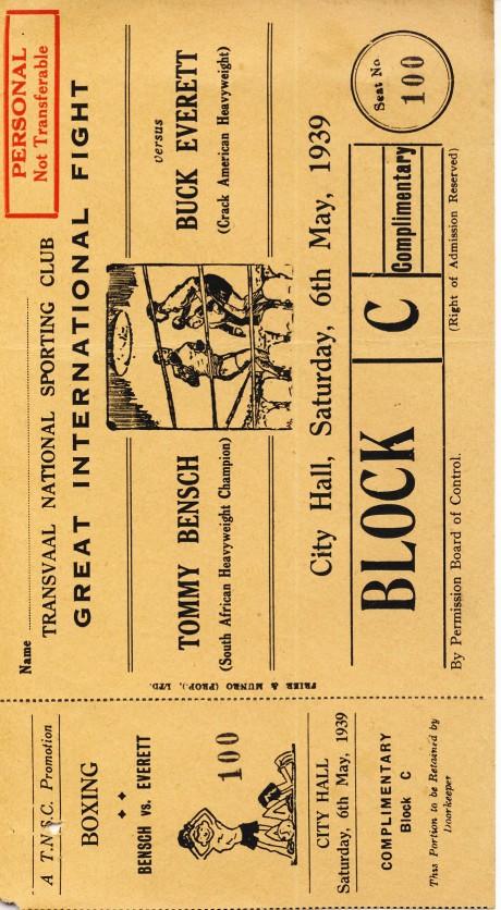 Tommy Bensch vs Buck Everett 1939
