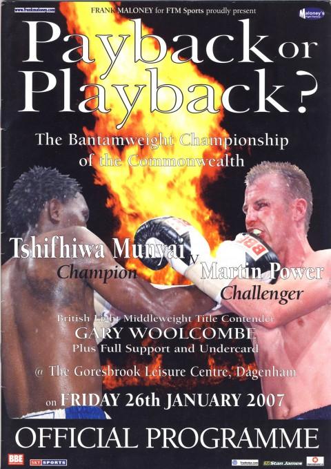 Tshifhiwa Manyai vs Martin Power - African Ring