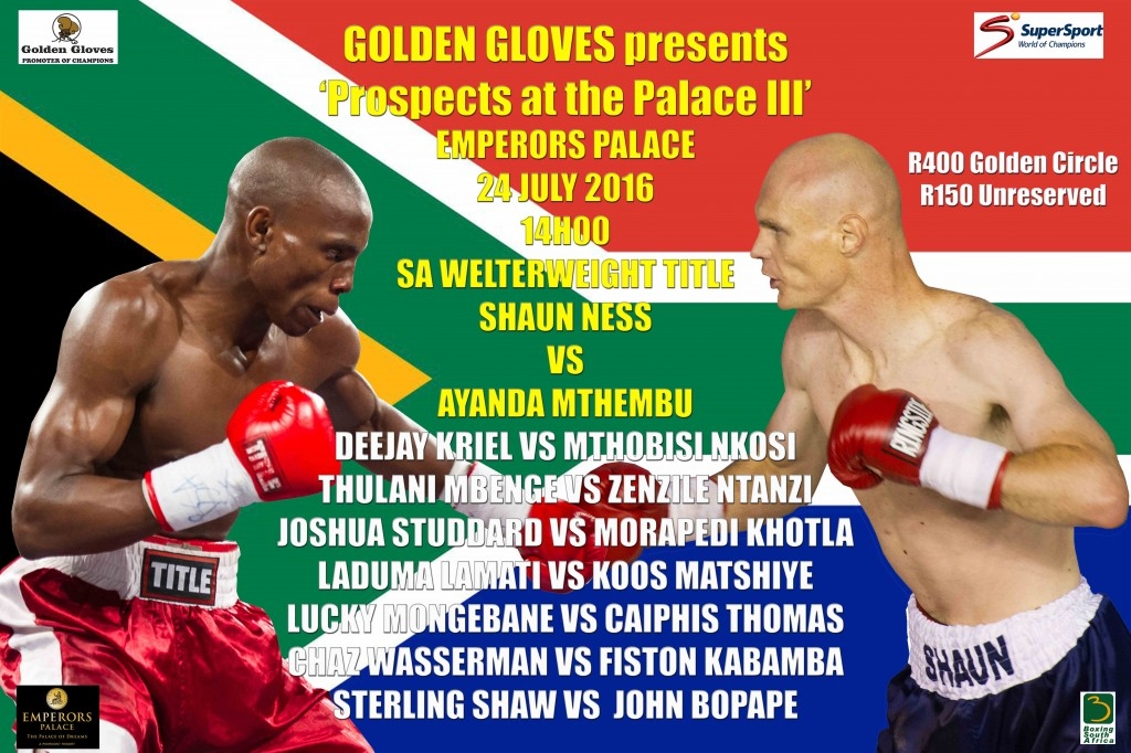 Prospect At the Palace 24 July 2016 main bout