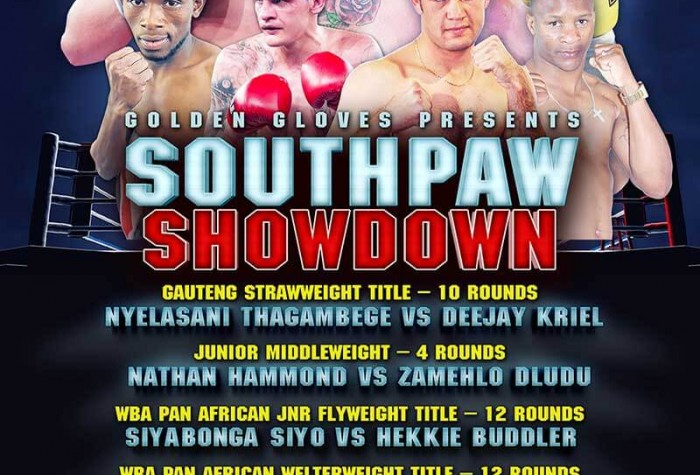 "Golden Gloves Presents ""SOUTHPAW SHOWDOWN"" Emperors Palace"