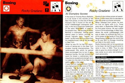 Rocky Graziano - African Ring