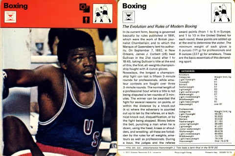 Rules of modern boxing - African Ring