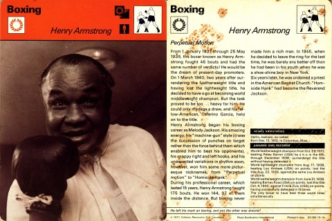 Henry Armstrong - African Ring