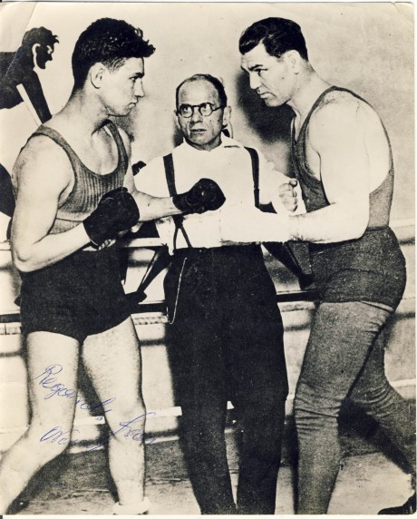 Costas Vassis squares up to Jack Dempsey