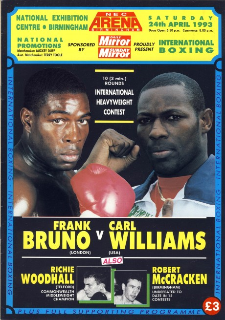 Frank Bruno vs Carl Williams 1993