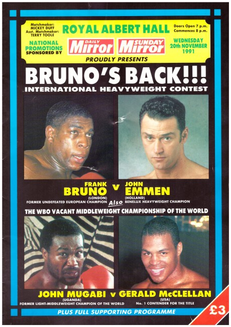 Frank Bruno vs John Emmen program