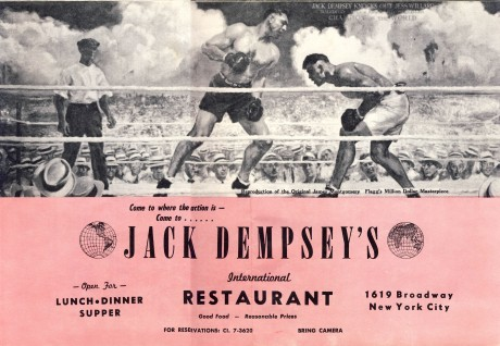 Jack Dempsey's International Restuarant Menu