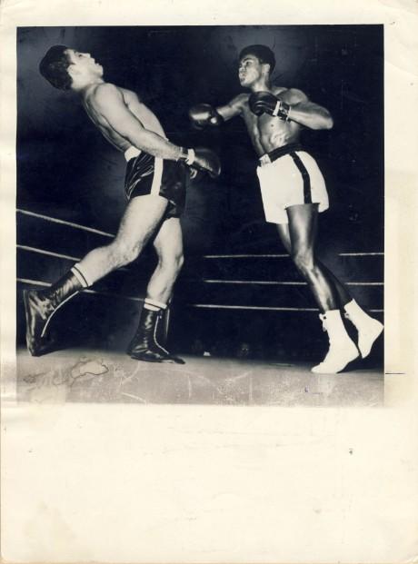 Muhammad Ali (Cassius Clay) vs Alex Miteff 1961 Wire Photo