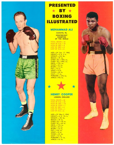 Muhammad Ali vs Henry Cooper Boxing Illustrated flyer