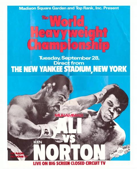 Muhammed Ali vs Norton Poster - African Ring