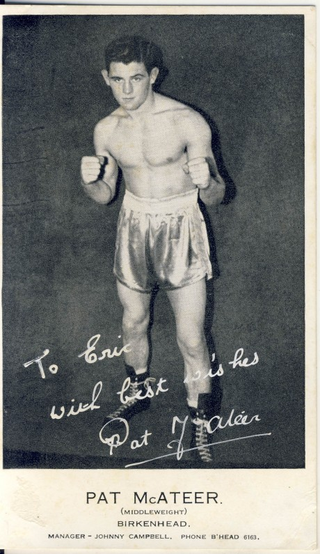 Pat McATEER inscribed to Eric