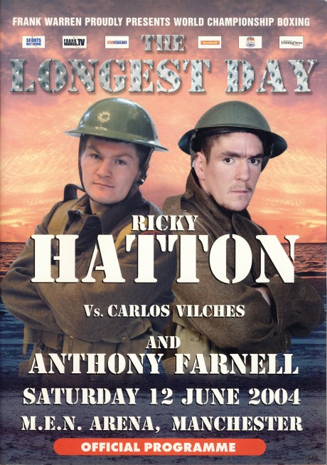 Ricky Hatton vs Carlos Farnell program