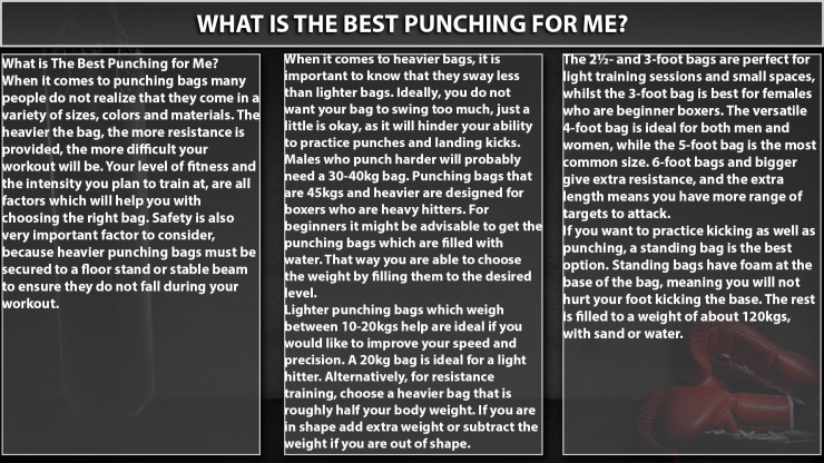 African Ring Info graphic - What Is The Best Punching For Me