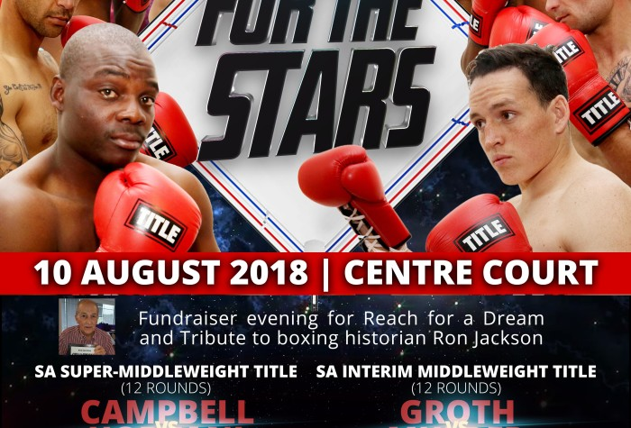 """Golden Gloves Presents """"REACH FOR THE STARS"""" 10 August 2018"""