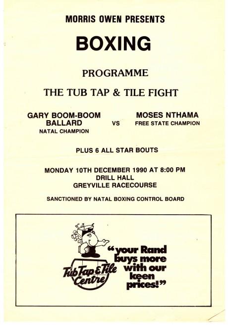 Gary Ballard Natal Champion