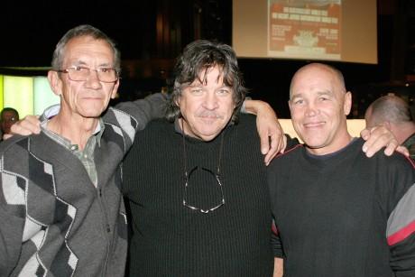 Johnny van Niekerk, Jeff Ellis and Aubrey Lovett